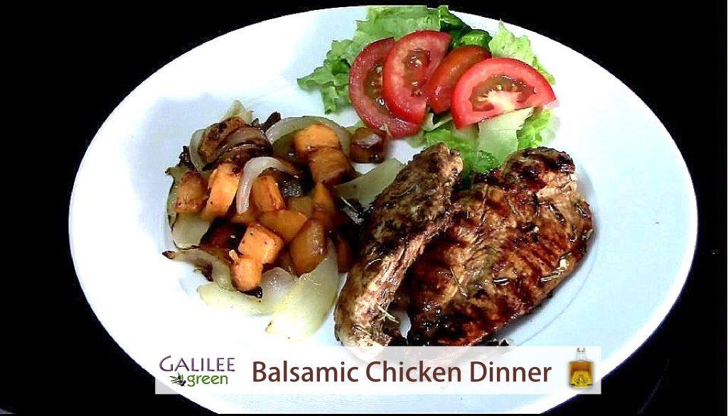 Israeli balsamic chicken dinner video galilee green balsamic chicken dinner forumfinder Gallery